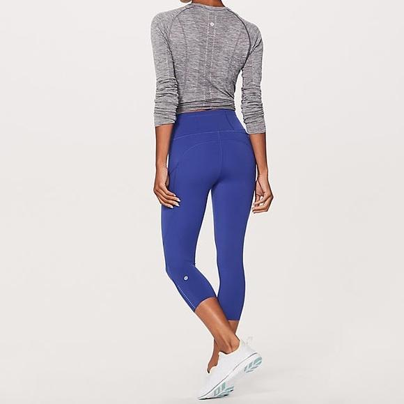 "42622ebc5b lululemon athletica Pants - Lululemon Fast & Free Crop II Nulux 19"" crop"